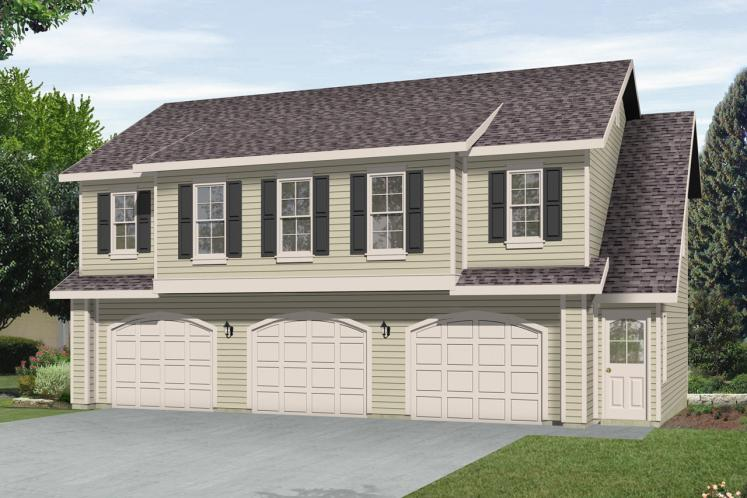 Traditional Garage Plan -  92241 - Front Exterior