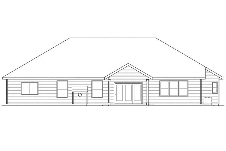 Country House Plan - Oak Hill 92285 - Rear Exterior