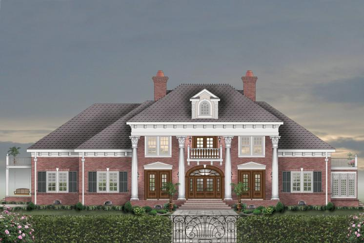 Colonial House Plan -  92332 - Front Exterior