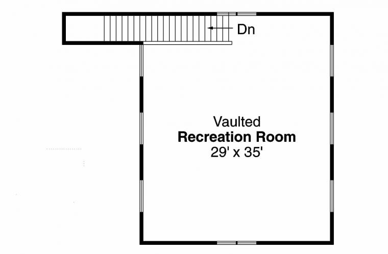 Traditional  -  92377 - 2nd Floor Plan