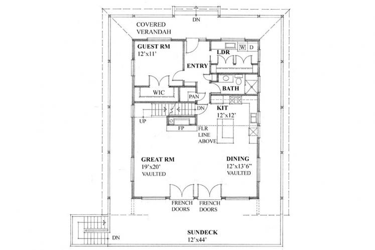 Country House Plan -  92479 - 1st Floor Plan
