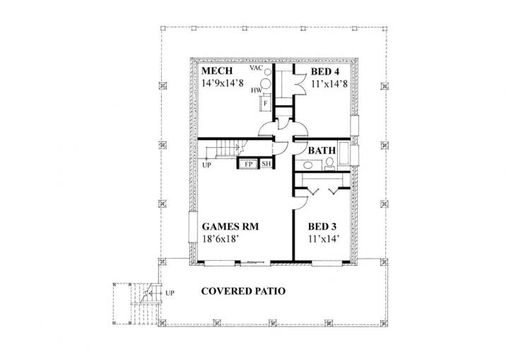 Country House Plan -  92479 - Basement Floor Plan