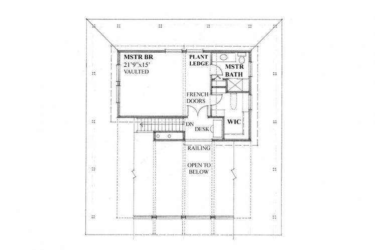 Cottage House Plan -  92479 - 2nd Floor Plan