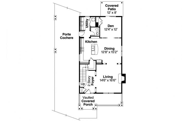 Bungalow House Plan - Grovedale 92489 - 1st Floor Plan