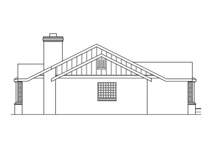 Country House Plan - Saginaw 92562 - Right Exterior
