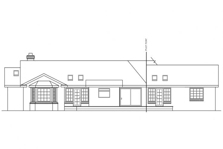 Country House Plan - Saginaw 92562 - Rear Exterior