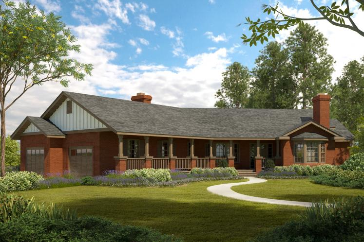 Ranch House Plan - Saginaw 92562 - Front Exterior