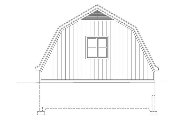 Country Garage Plan -  92585 - Rear Exterior