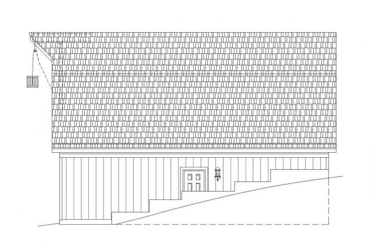 Country Garage Plan -  92585 - Right Exterior