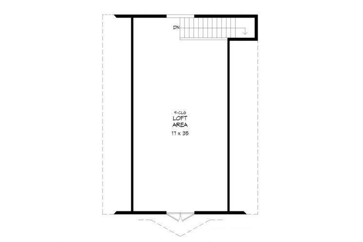 Country Garage Plan -  92585 - 2nd Floor Plan