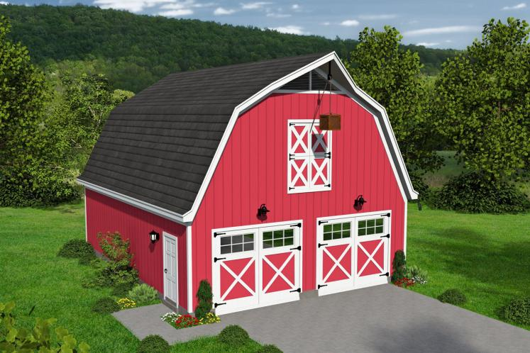 Farmhouse Garage Plan -  92585 - Front Exterior