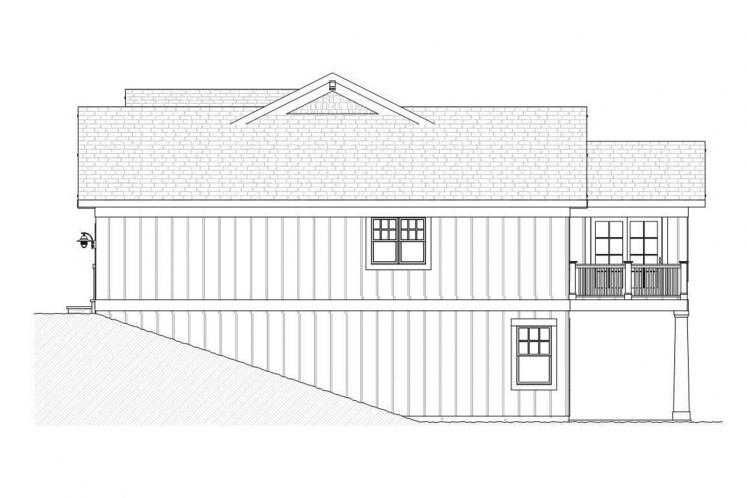 Ranch House Plan - Tuscan 92653 - Right Exterior