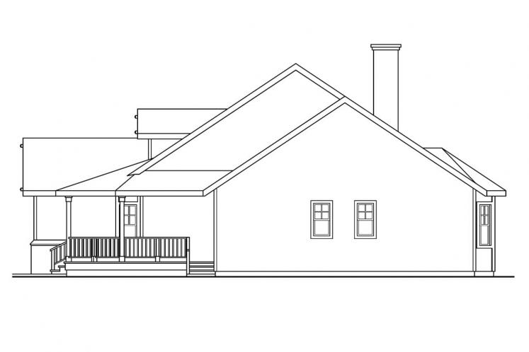 Country House Plan - Clearheart 92676 - Right Exterior