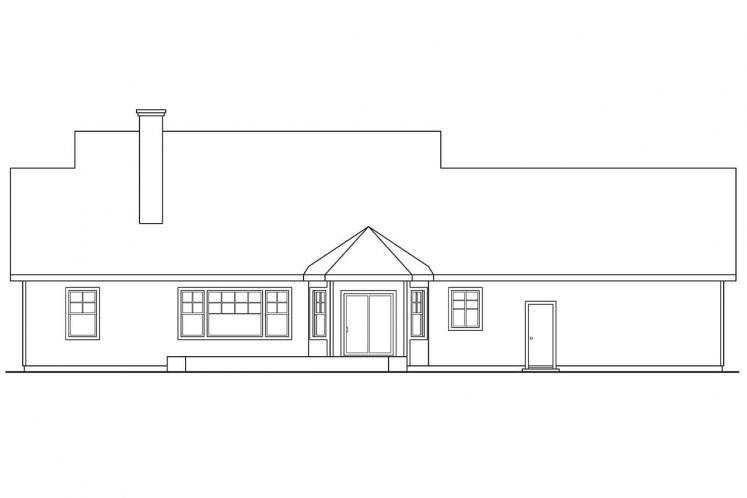 Cottage House Plan - Clearheart 92676 - Rear Exterior