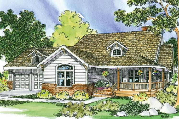 Country House Plan - Clearheart 92676 - Front Exterior
