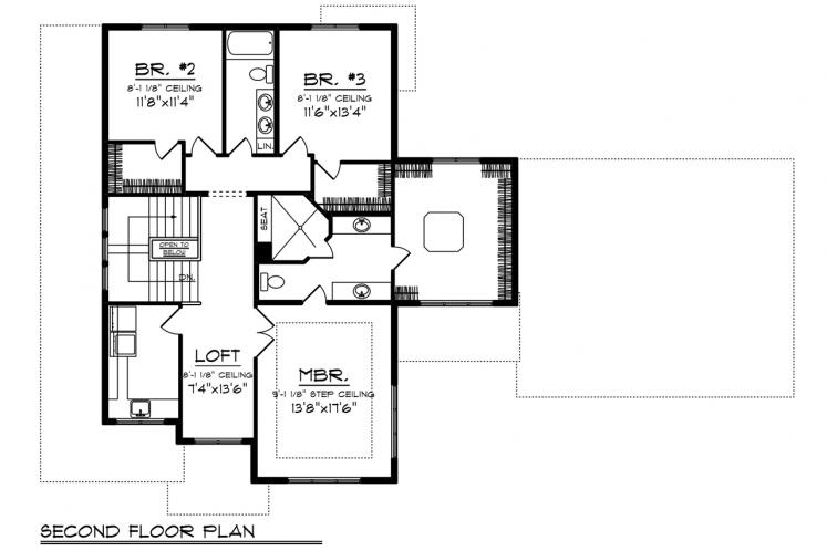 Modern House Plan -  92713 - 2nd Floor Plan