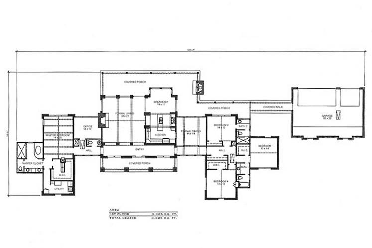 Farmhouse House Plan - Settler 92755 - 1st Floor Plan