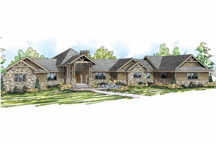 Craftsman House Plan - Barrett 92758 - Front Exterior