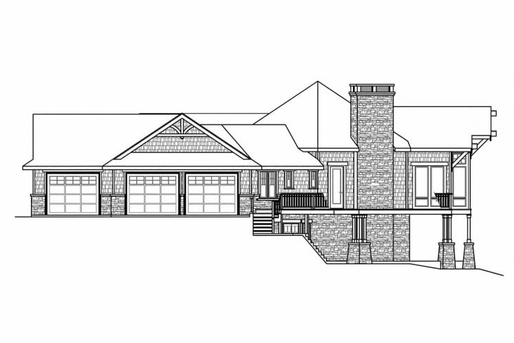 Craftsman House Plan - Barrett 92758 - Right Exterior