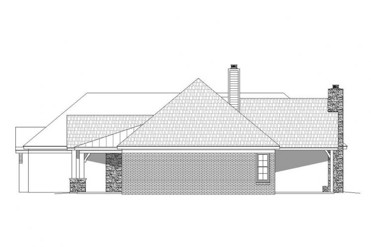 Ranch House Plan - Tascocita 92787 - Right Exterior