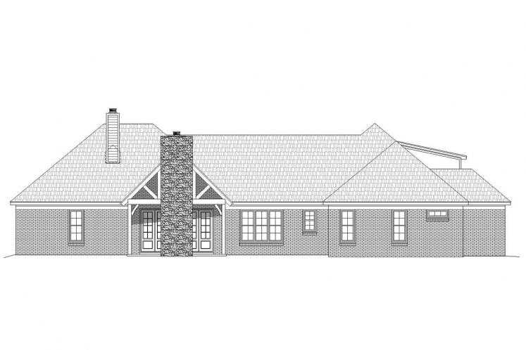 Ranch House Plan - Tascocita 92787 - Rear Exterior