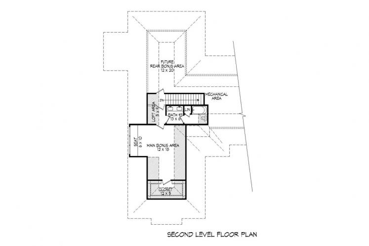 Ranch House Plan - Tascocita 92787 - 2nd Floor Plan