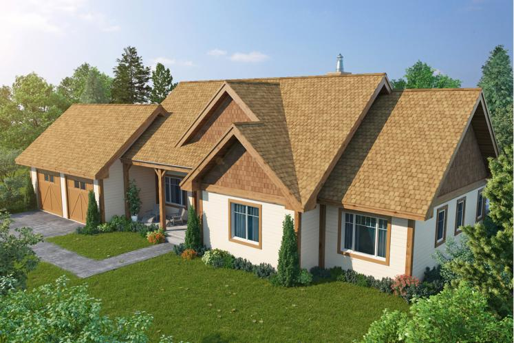 Country House Plan - Cherokee II 92799 - Front Exterior