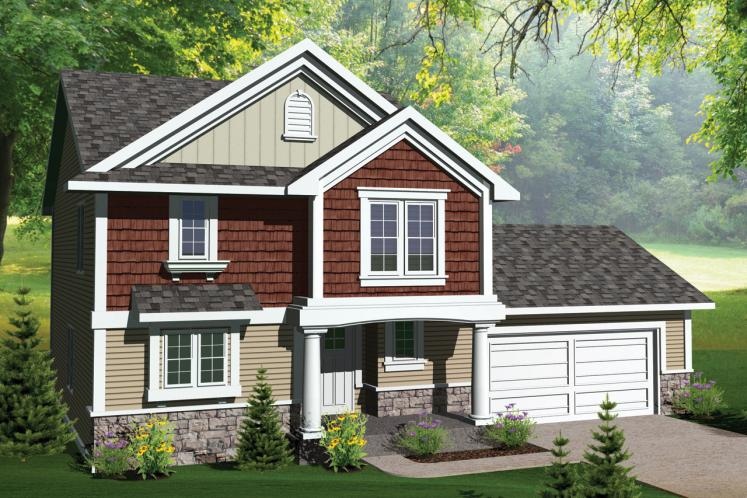 Traditional House Plan -  92810 - Front Exterior