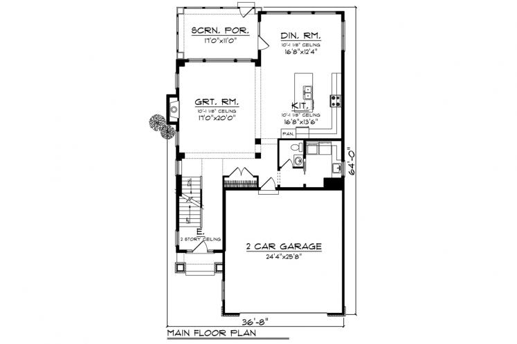 Traditional House Plan -  92817 - 1st Floor Plan