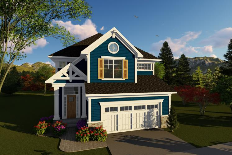 Traditional House Plan -  92817 - Front Exterior