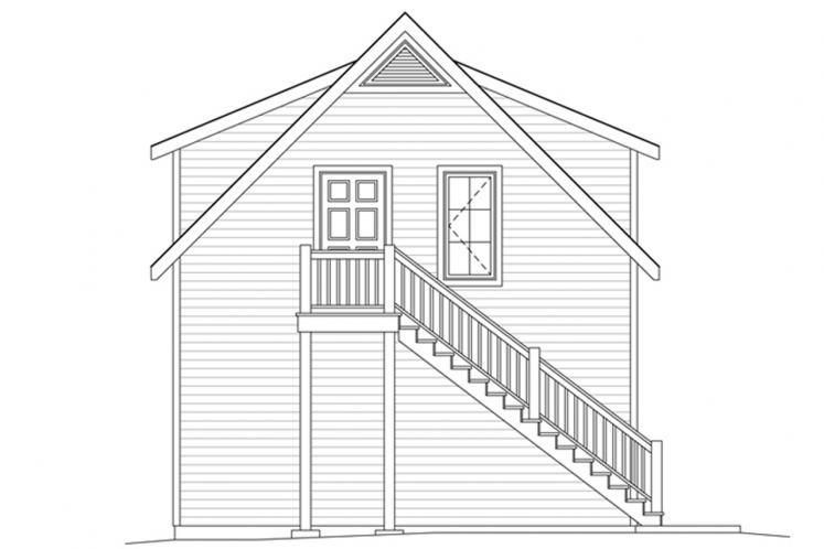 Country Garage Plan -  93071 - Left Exterior