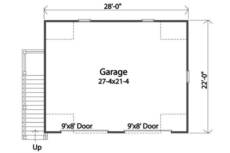 Country Garage Plan -  93071 - 1st Floor Plan