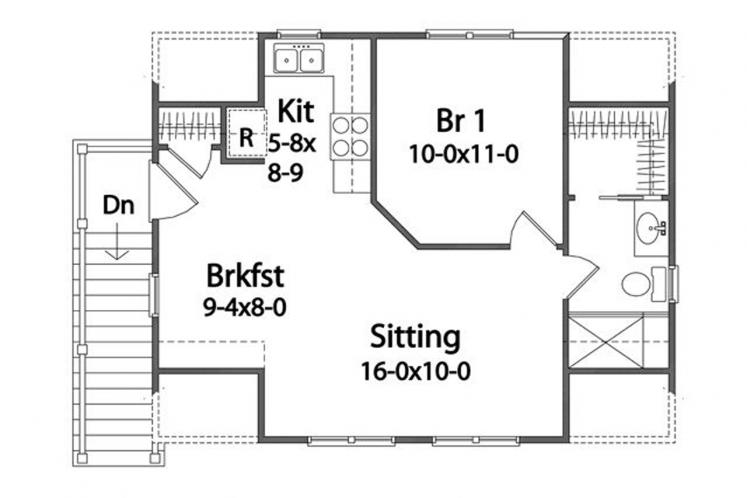Traditional Garage Plan -  93071 - 2nd Floor Plan