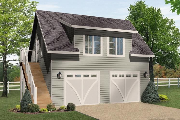 Country Garage Plan -  93071 - Front Exterior