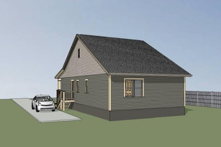 Country House Plan -  93086 - Right Exterior