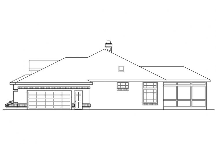 Contemporary House Plan - Stirling 93194 - Rear Exterior