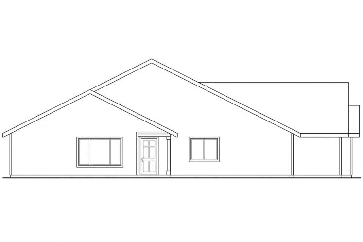 Traditional Multi-family Plan - Wynant 93229 - Left Exterior