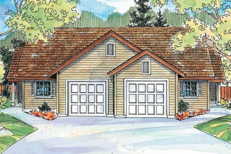 Cottage Multi-family Plan - Wynant 93229 - Front Exterior