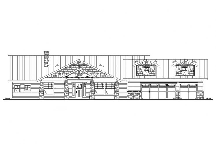 Ranch House Plan -  93267 - Front Exterior