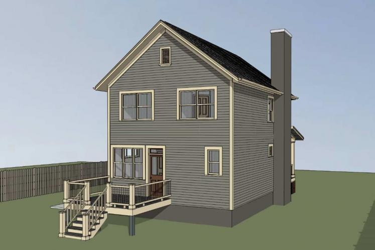 Traditional House Plan -  93414 - Left Exterior