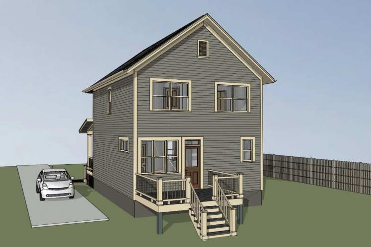 Country House Plan -  93414 - Right Exterior