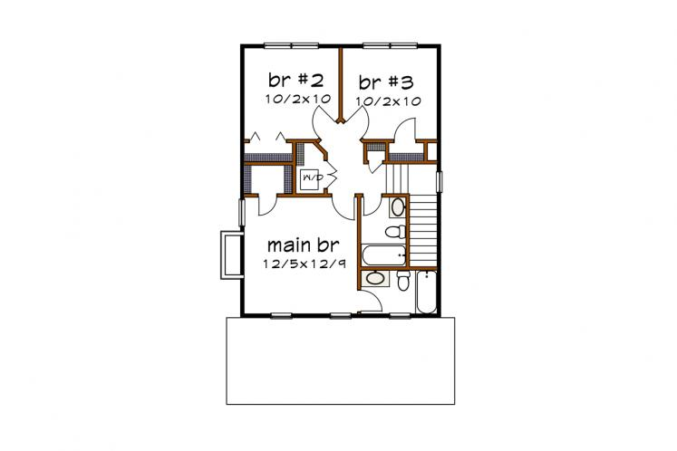 Traditional House Plan -  93414 - 2nd Floor Plan