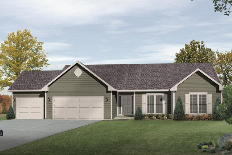 Ranch House Plan -  93441 - Front Exterior