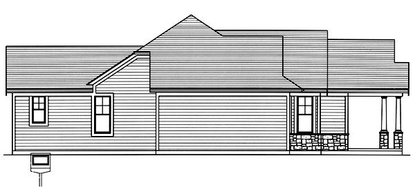 Bungalow House Plan - Addison 93458 - Left Exterior