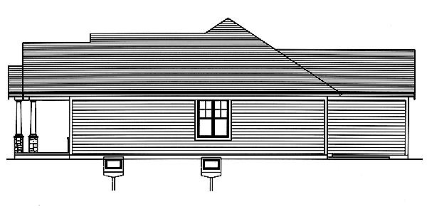 Cottage House Plan - Addison 93458 - Right Exterior