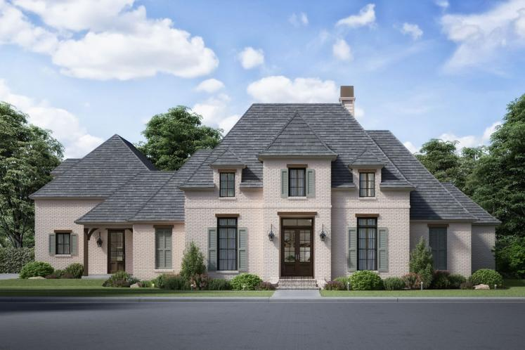Southern House Plan - Squire Creek 93670 - Front Exterior