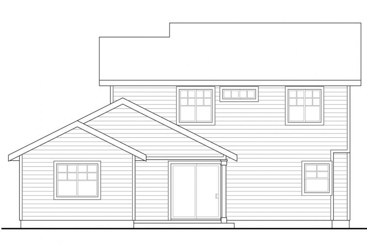 Cottage House Plan - Wendover 93752 - Rear Exterior