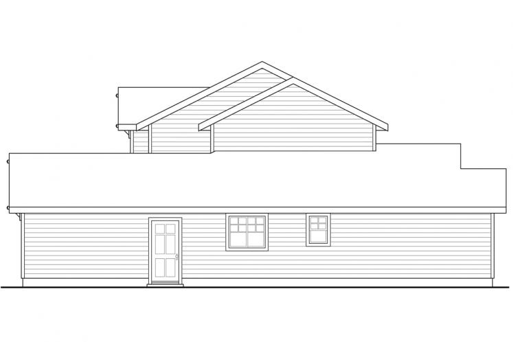 Craftsman House Plan - Wendover 93752 - Right Exterior
