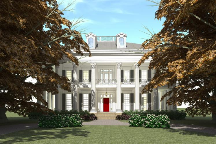 Colonial House Plan - Twelve Oaks 93753 - Front Exterior