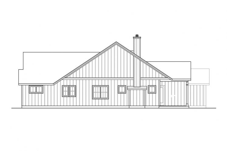 Farmhouse House Plan - Whiskey Creek 93944 - Right Exterior